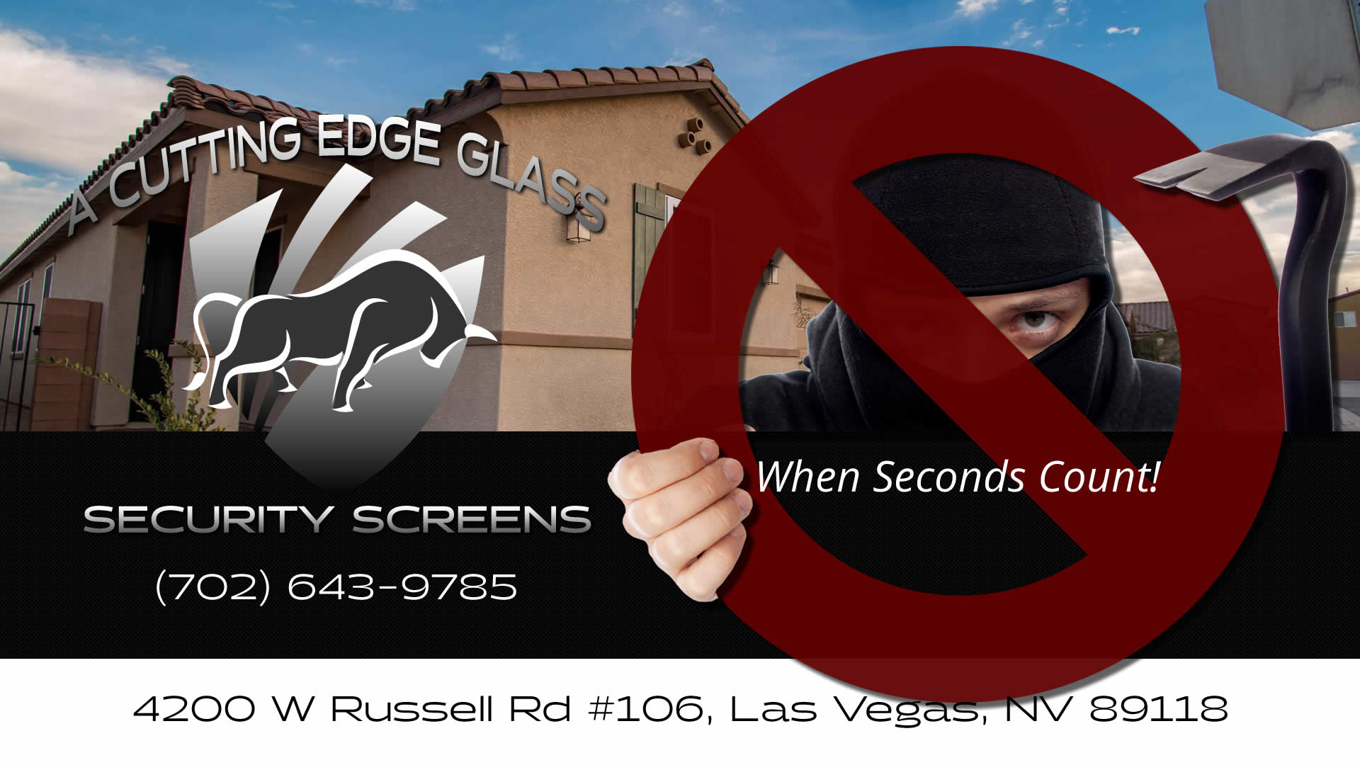 A Cutting Edge Glass & Security Screens Promo - Your Home Security Specialists